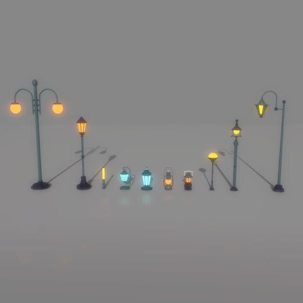 Cartoon_lantern&Light_Pack - 3DOcean Item for Sale