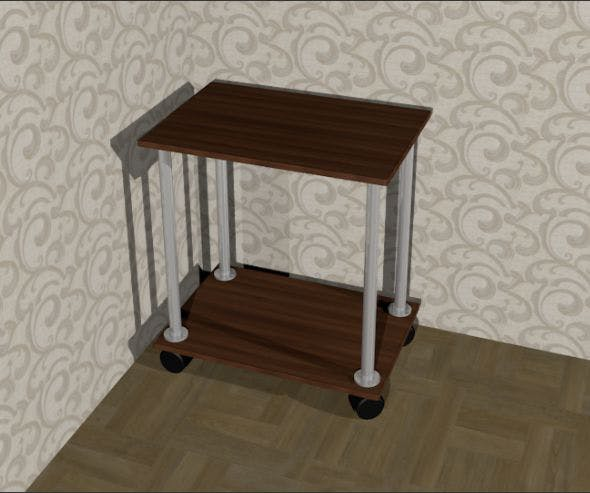 Bedside coffee table on wheels - 3DOcean Item for Sale