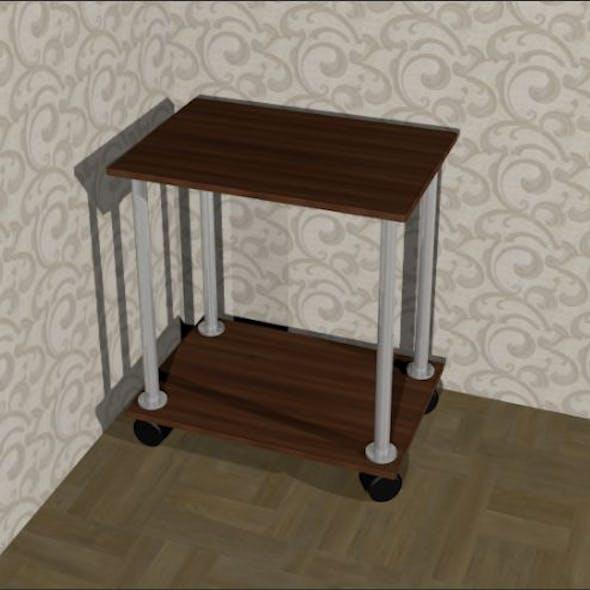 Bedside coffee table on wheels