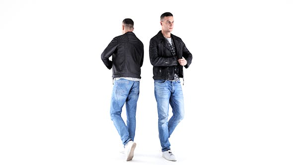 Man in leather jacket 05 - 3DOcean Item for Sale