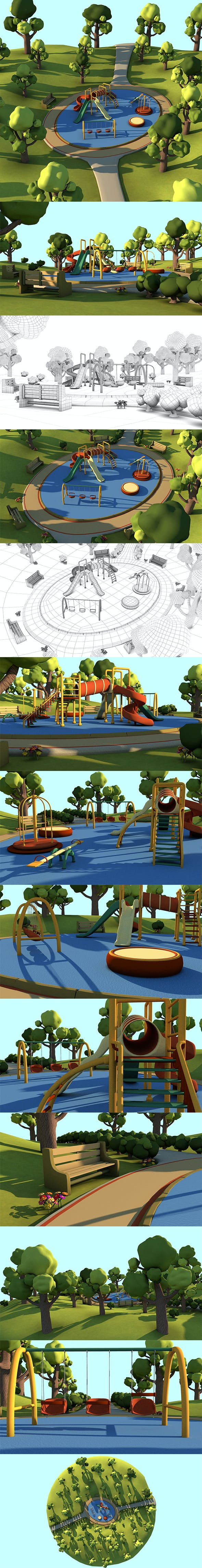 Toon Playground - 3DOcean Item for Sale