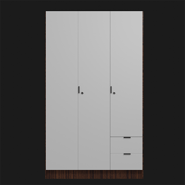 3 Door wardrode - 3DOcean Item for Sale