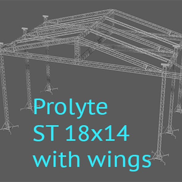 Prolyte ST 18x14 roof with side wings
