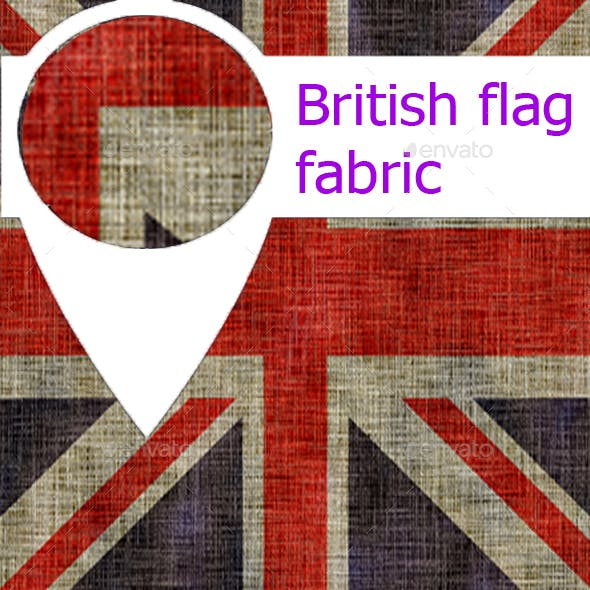 Fabric british flag