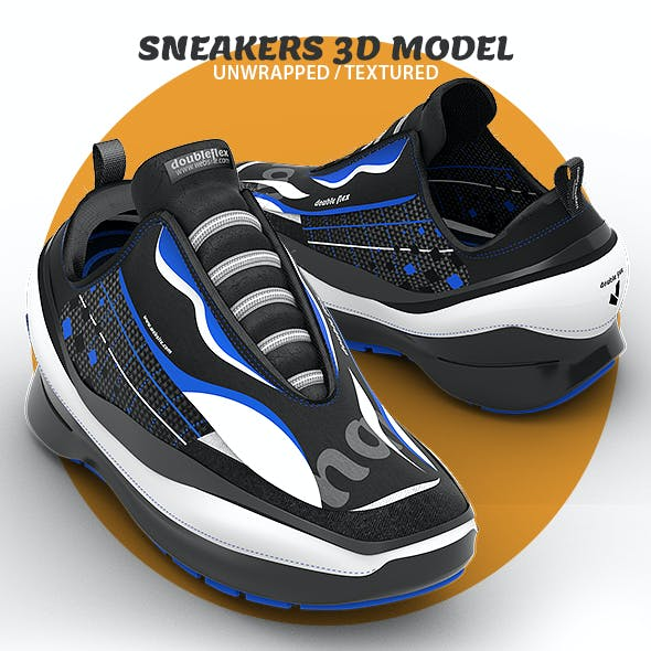 Sneaker Unwrapped 3D Model