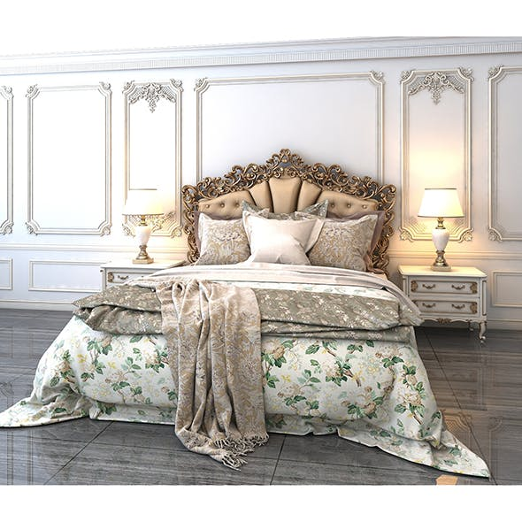 Classic Bed 5 - 3DOcean Item for Sale