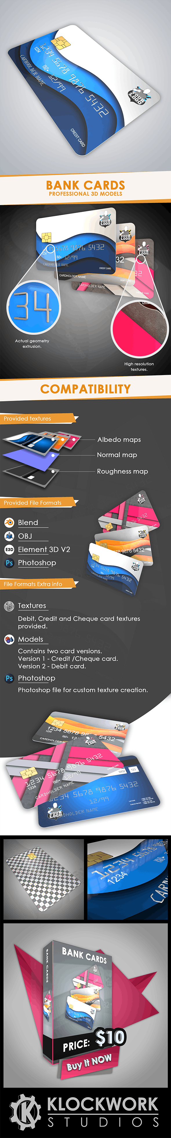 Bank cards - 3DOcean Item for Sale