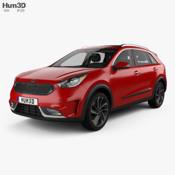 Kia Niro with HQ interior 2017 - 3DOcean Item for Sale