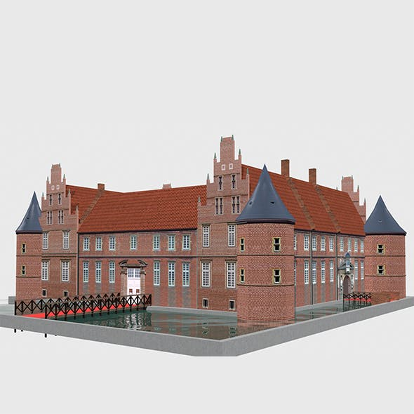 Schloss Herten Castle Germany - 3DOcean Item for Sale