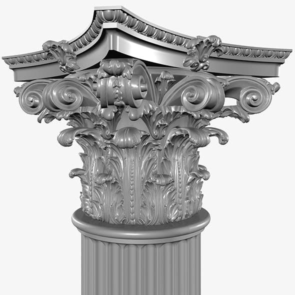 Corinthian Column - 3DOcean Item for Sale