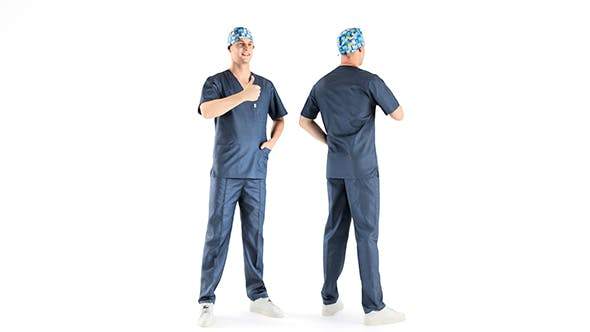 Male surgical doctor 04 - 3DOcean Item for Sale