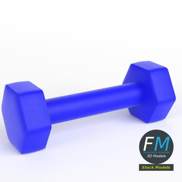 Neoprene dumbbell - 3DOcean Item for Sale