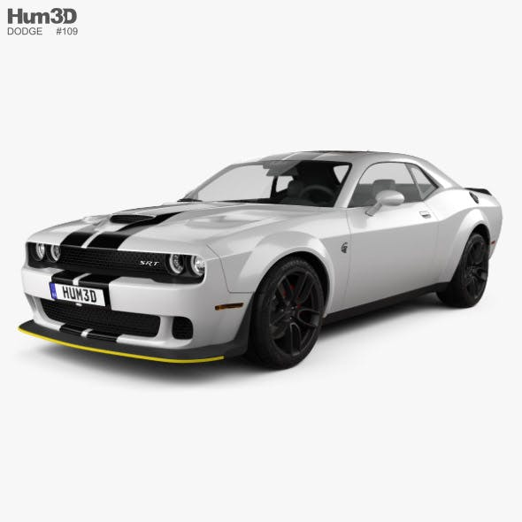 Dodge Challenger SRT Hellcat Wide Body 2018 - 3DOcean Item for Sale