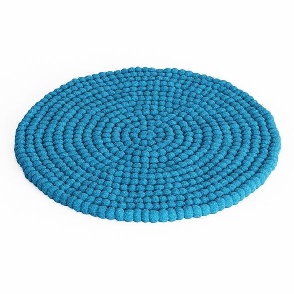 Ball of wool felt carpet - 3DOcean Item for Sale