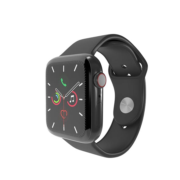 Apple Watch Series 5 Space Gray Aluminum Case with Sport Band - 3DOcean Item for Sale