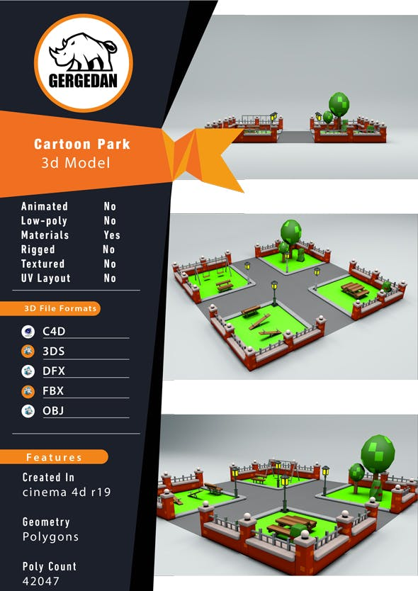 Cartoon Park - 3DOcean Item for Sale