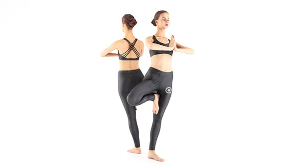 Woman practicing yoga 29 - 3DOcean Item for Sale