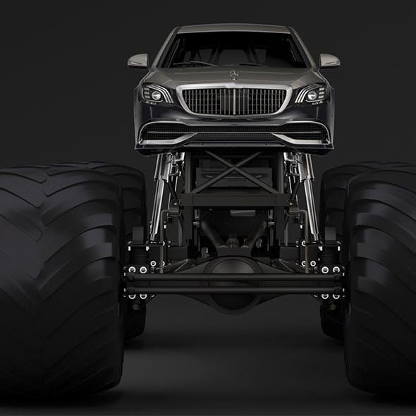 Monster Truck Mercedes Maybach S 650 Pullman