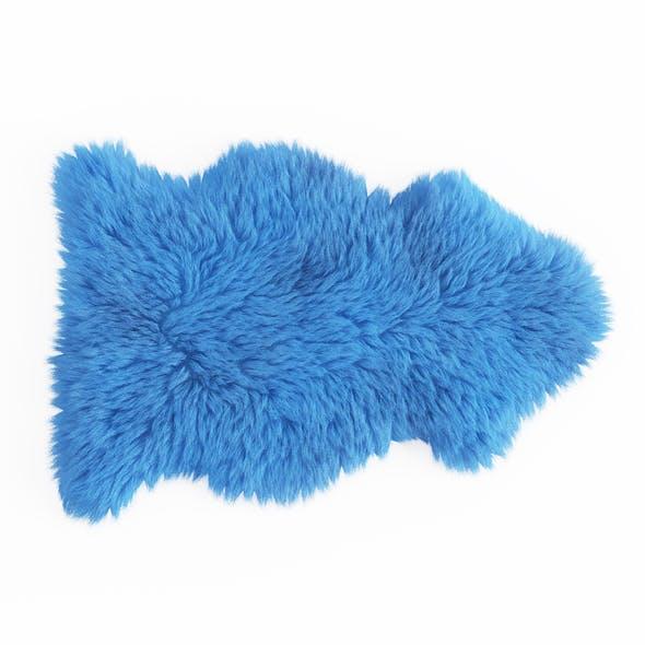 Soft Plush Faux Sheepskin Rug Blue 2 - 3DOcean Item for Sale