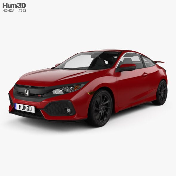 Honda Civic Si coupe with HQ interior 2016 - 3DOcean Item for Sale