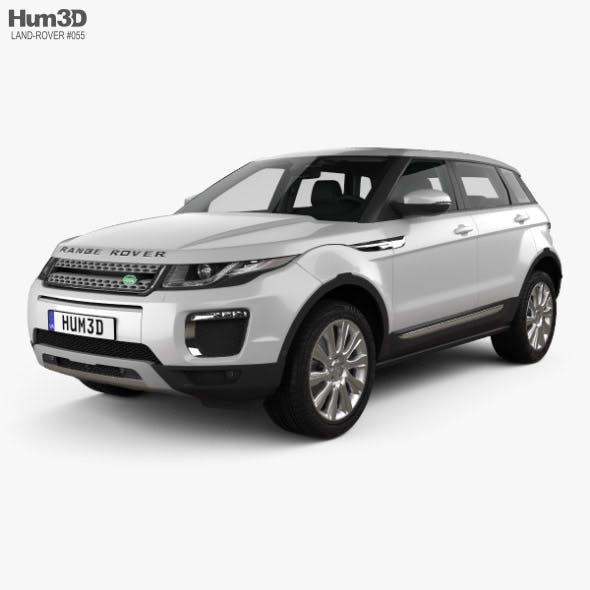 Land Rover Range Rover Evoque SE 5-door with HQ interior 2015 - 3DOcean Item for Sale
