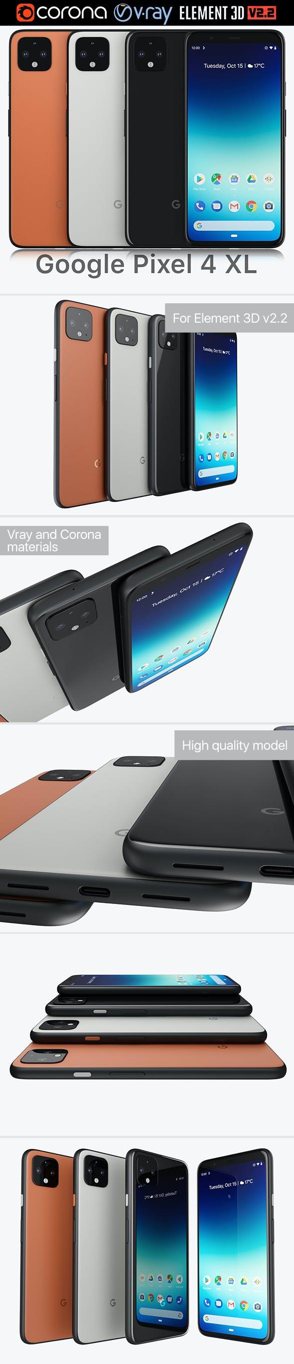 Google Pixel 4 XL - 3DOcean Item for Sale