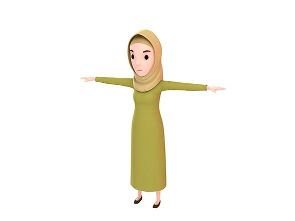CartoonGirl019 Muslim Girl - 3DOcean Item for Sale