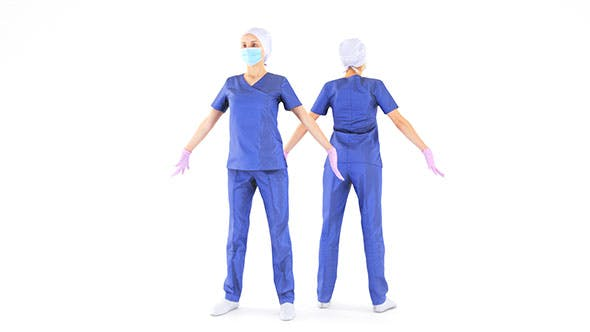 Female nurse 21 - 3DOcean Item for Sale