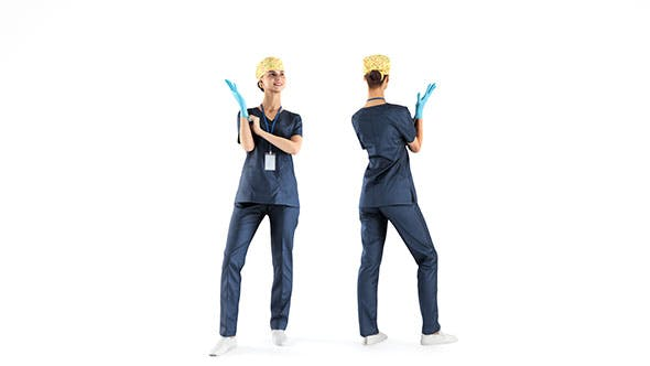 Female surgical nurse 22 - 3DOcean Item for Sale
