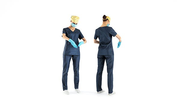 Female surgical nurse at work 23 - 3DOcean Item for Sale