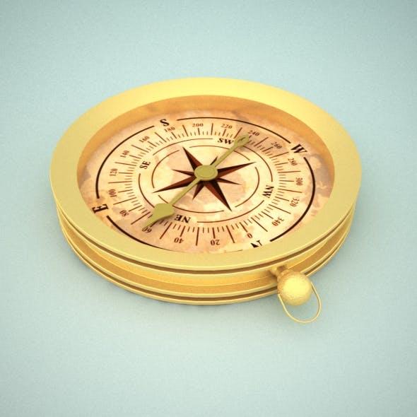 Antique Compass - 3DOcean Item for Sale