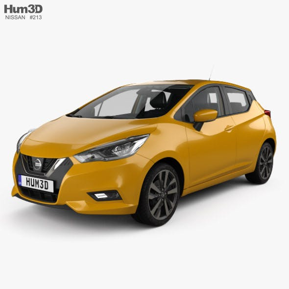 Nissan Micra with HQ interior and engine 2016