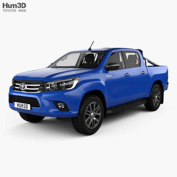 Toyota Hilux Double Cab SR5 with HQ interior 2015 - 3DOcean Item for Sale