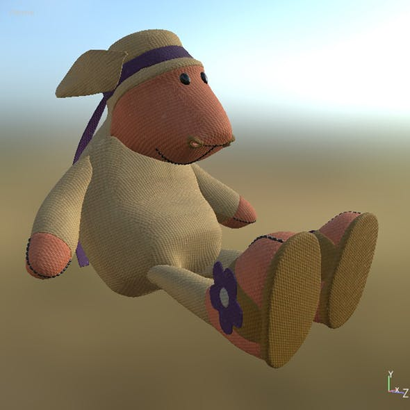 Toy Sheep Pose PBR - 3DOcean Item for Sale