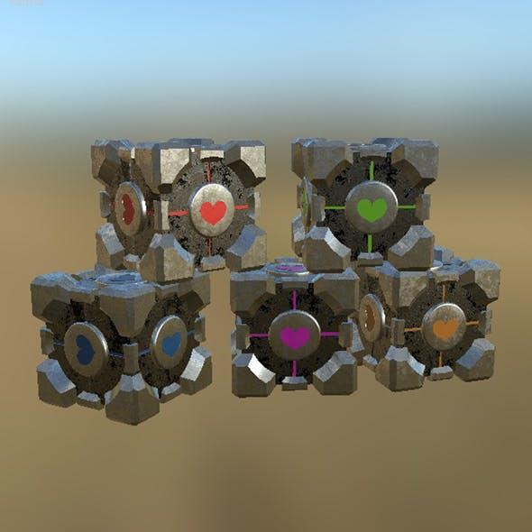 Portal Cube 01 PBR - 3DOcean Item for Sale