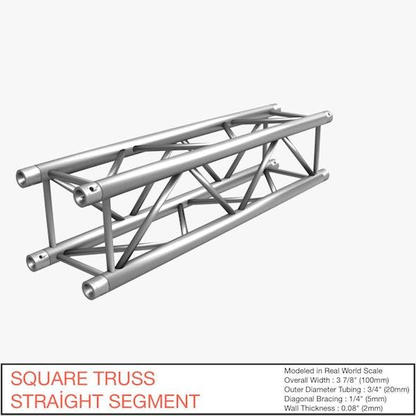 Square Truss Straight Segment 021