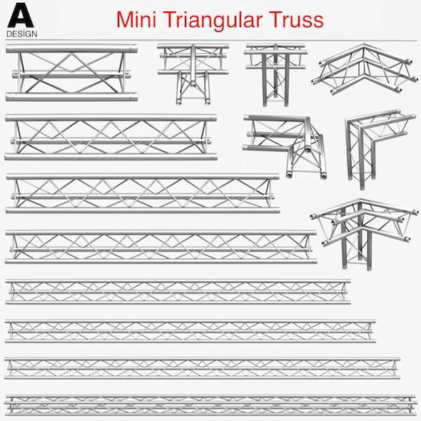 Mini Triangular Truss Collection - 14 PCS Modular - 3DOcean Item for Sale