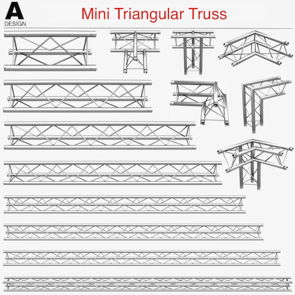Mini Triangular Truss Collection - 14 PCS Modular