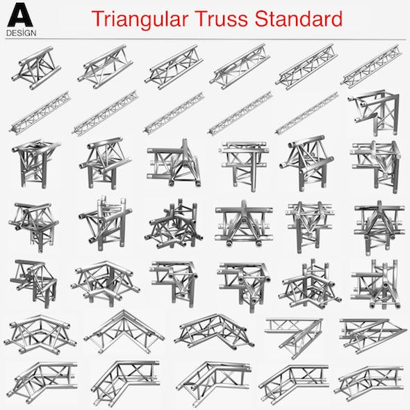 Triangular Truss Standard Collection - 41 PCS Modular