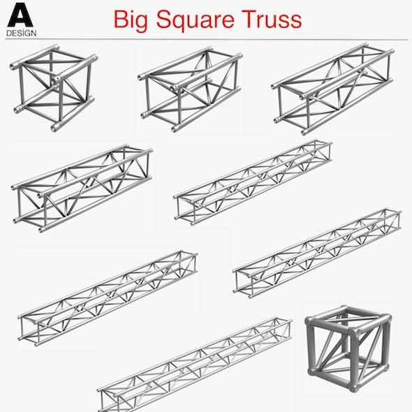Big Square Truss Collection - 10 PCS Modular - 3DOcean Item for Sale