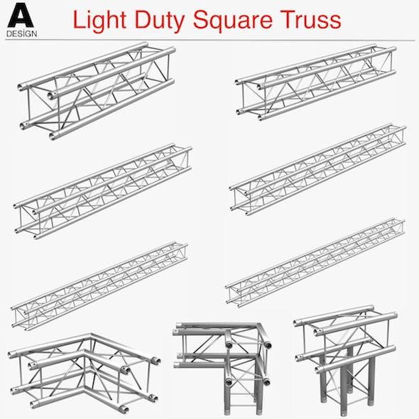 Light Duty Square Truss Collection - 9 PCS Modular - 3DOcean Item for Sale