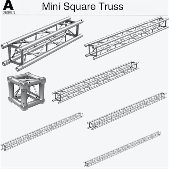 Mini Square Truss Collection - 7 PCS Modular