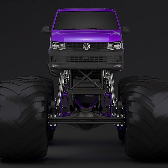 Monster Truck VW Transporter - 3DOcean Item for Sale