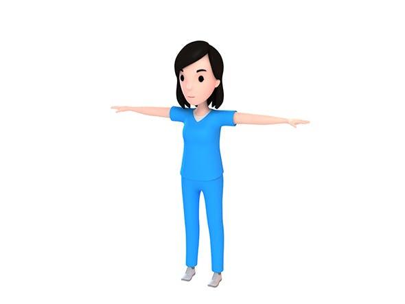 CartoonGirl023 Nurse - 3DOcean Item for Sale
