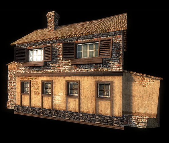 WW2 House - 3DOcean Item for Sale