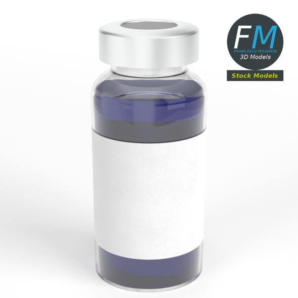Glass ampoule with aluminium cap
