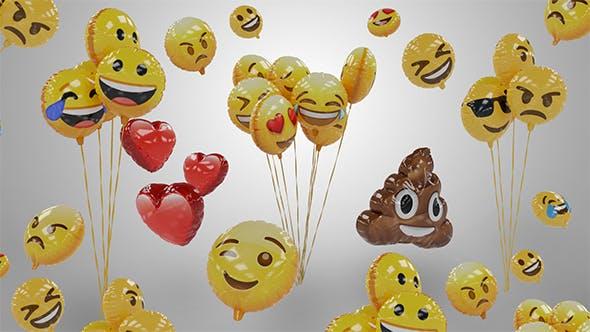 Emoji Balloons Pack - 3DOcean Item for Sale