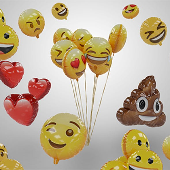 Emoji Balloons Pack