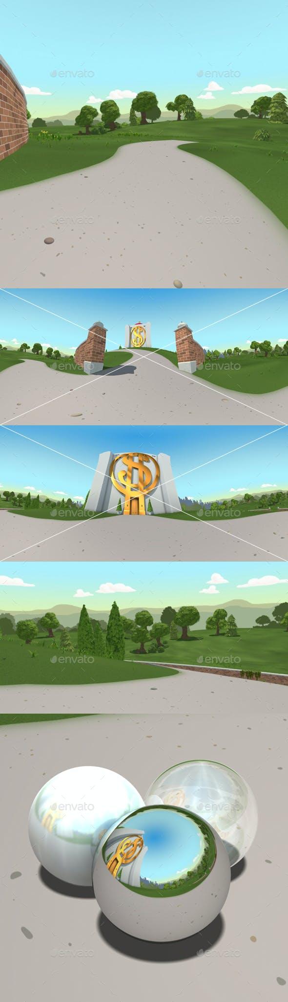 2 Cartoon Bank Exterior Hdri By Lucky Fingers 3docean