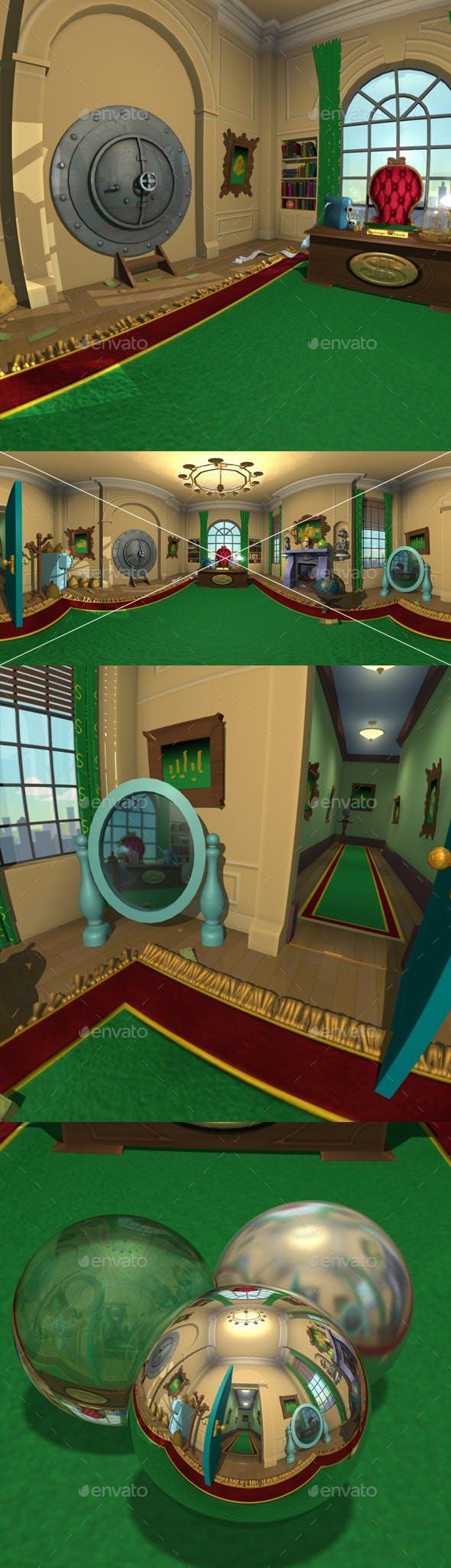 Cartoon Bank Office HDRI - 3DOcean Item for Sale